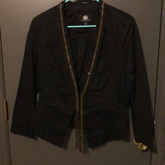 Rock & Republic Jackets & Blazers - Rhinestone encrusted black blazer